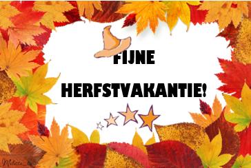 FIJNE HERFSTVAKANTIE 2018